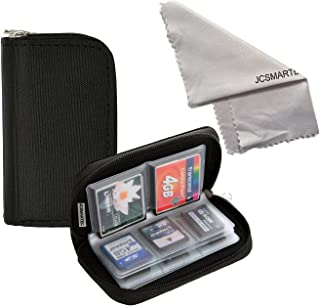 Memory Card Carrying Case - Suitable for Micro SD, Mini SD and 4X CF, Card Holder Bag Wallet with Microfiber Cleaning Clot...