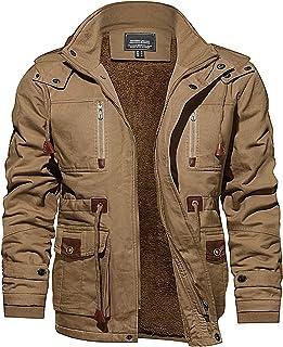 Men's Jacket-Winter Thicken Field Fleece Cargo Coat With...