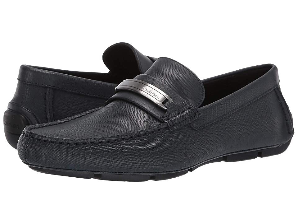Calvin Klein Kolton (Dark Navy Hatched Embossed Leather) Men