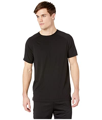 ALO The Triumph Crew Neck Tee (Solid Black Tri-Blend) Men