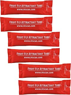 RESCUE Indoor Non-Toxic Fruit Fly Trap Attractant Refill, 30 Days (Pack of 3)