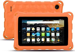 Fire 7 Case 2019-Dinines Shockproof Light Weight Kids Friendly Protective Case for Amazon Kindle Fire 7(Compatible with 9thGeneration 2019 /5th Generation 2015 / 7th Generation 2017) (Orange)