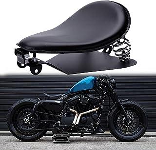 Custom Black Motorcycle Cushion Spring Solo Seat Baseplate Mounting Bracket Kit for Sportster XL1200 883 48 Dyna Softail Fatboy Custom