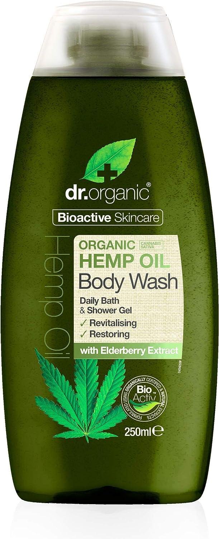 Dr. Organic Gel de Baño y Ducha Aceite Cañamo Organico 250 ml