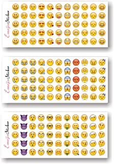 X Hot Popcorn 120 Sheets Emoji Stickers 33 Different Emoticon Faces Stickers for Crafts Scrapbook Party Favors