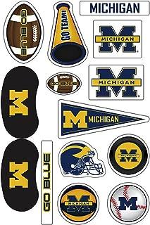 Michigan Wolverines Waterless Peel & Stick Temporary Tattoo Assortment Pack 14-Piece