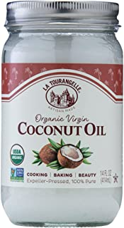 La Tourangelle, Organic Virgin Unrefined Coconut Oil, Great for Cooking, Baking, Hair, and Skin Care, Bold, Aromatic, and ...