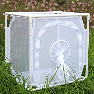 Monarch Butterfly Habitat Cage, Outdoor Insect Mesh Cage Terrarium 16