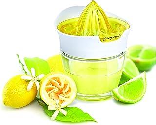 Prepara Glass Citrus Juicer with Storage, Yellow