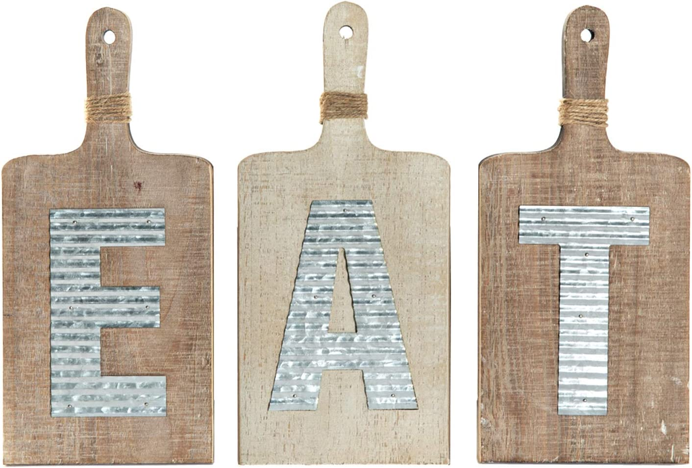 Amazon Com Emax Home Large Eat Wood Kitchen Sign For Kitchen Wall Decor Rustic Farmhouse Kitchen Wall Art Vintage Wooden Plaque With Eat Letters For Kitchen Distressed Finish 15 X 7 Each Home Kitchen