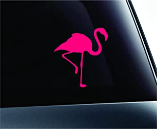 Car Flamingo Silhouette Symbol Decal Funny Car Truck Sticker Window (Pink)