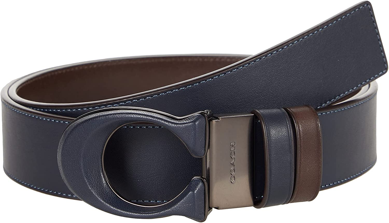 COACH 38 mm Reversible Leather Inlay C Buckle Belt in Sport Calf