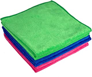 Edenstar Microfiber Cleaning Cloths 16 x 16 extra thick Cleaning Towels Kitchen Strong Water Absorbent Cloth Cleaning Rags 300gsm Home Soft Microfiber Towel Window Wash Cloth for Car Pack of 6