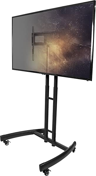 Kanto MTM55 Mobile TV Stand With Mount For 32 To 55 Inch Flat Panel Screens Black