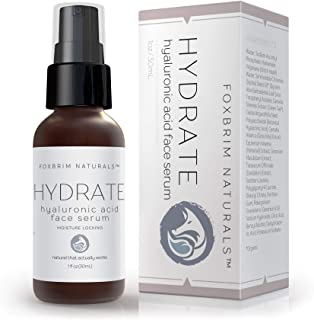 Hyaluronic Acid Face Serum - Hydrating Anti Aging Facial Serum - For Face and Neck - With Vitamin C and E, Green Tea, Jojo...