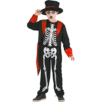 Magicoo - Disfraz de Esqueleto para niños de Halloween, Color ...