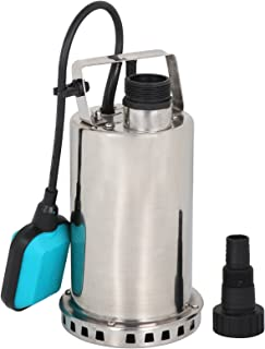 SUPER DEAL Submersible pump Stainless Steel Sump Pump Dirty/Clean Water Pump Pool Utility Pump w/ 26ft Cable and Float Switch (Stainless Steel)