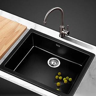 Cefito Granite Stone Sink Black - 460(L) x 410(W) mm