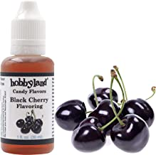 Hobbyland Candy Flavors (Black Cherry Flavoring, 1 Fl Oz), Black Cherry Concentrated Flavor Drops