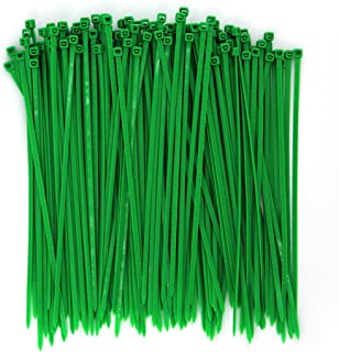 Wide 8 Inch 150 Pack Strong Tree Grass Garden Green Color Heavy Duty Cable Zip Ties-Outdoor, Garden Ties Use, Office, Festivals and Kitchen Use