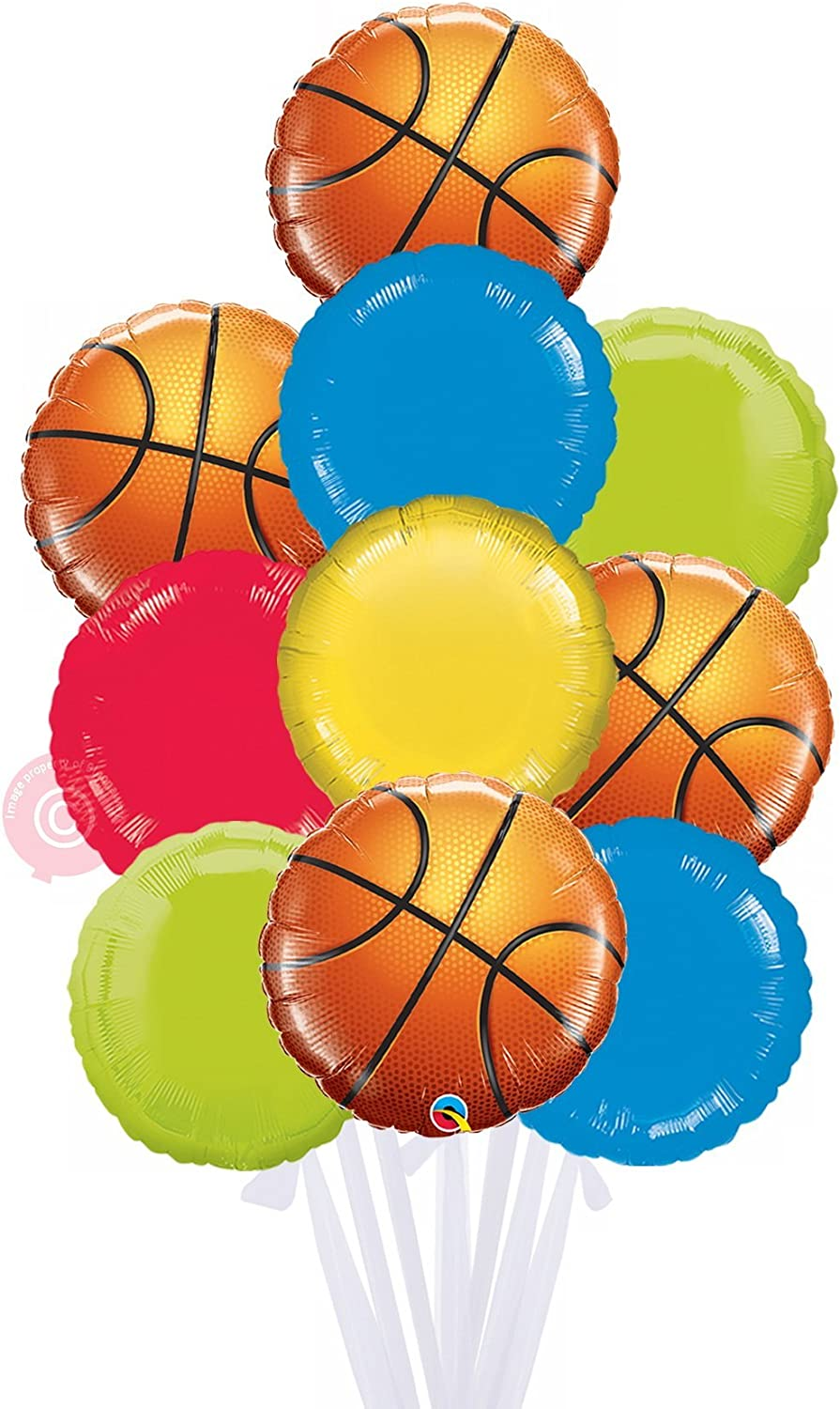 Basketball  Inflated Helium Balloon Delivered in a Box  Biggest Bouquet  10 Balloons  Bloonaway