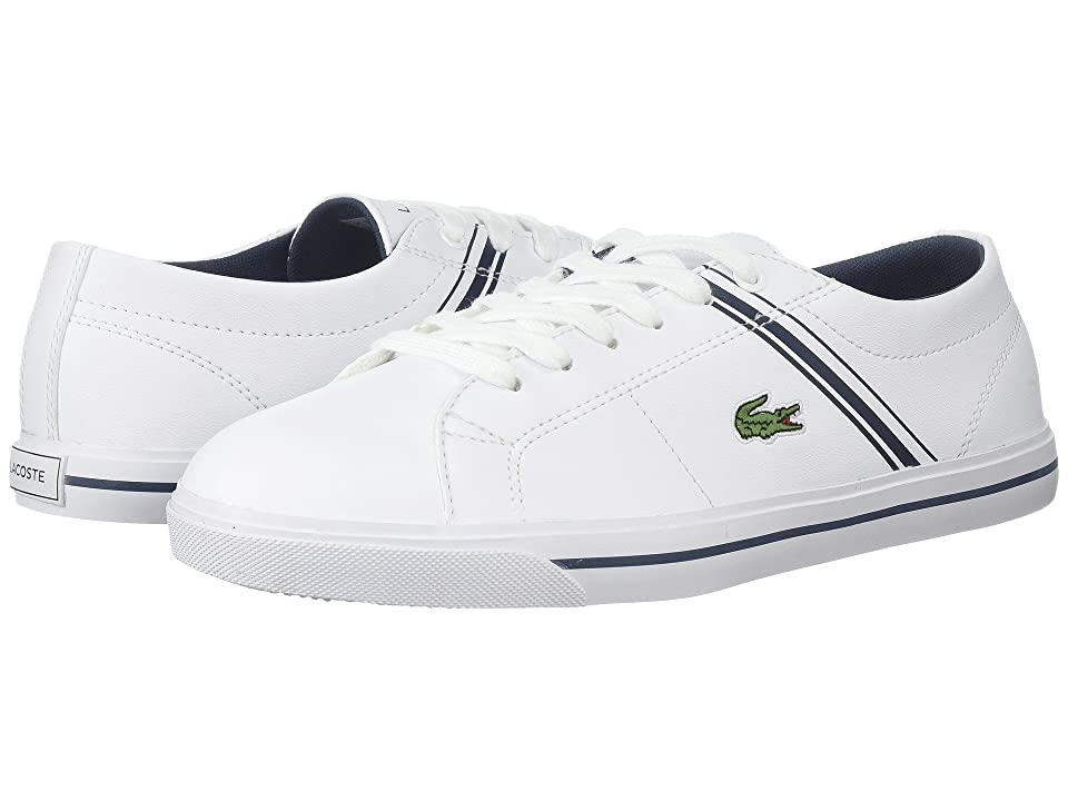 Lacoste Kids Riberac (Little Kid/Big Kid) (White/Navy) Kid