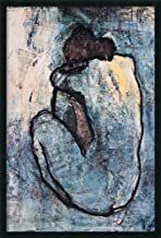 Framed Wall Art Print The Blue Nude (Seated Nude), 1902 by Pablo Picasso 25.25 x 37.25