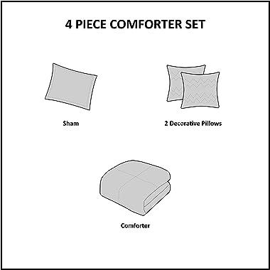 Intelligent Design Cozy Comforter Casual Cabin Lodge Plaid Design, Twin/Twin XL, Black