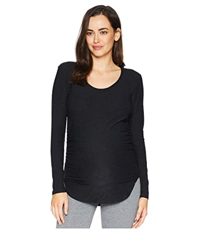 Beyond Yoga Maternity Cut and Run Pullover (Darkest Night) Women