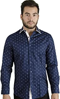 Long Sleeved Casual Shirt Navy Blue by 4764