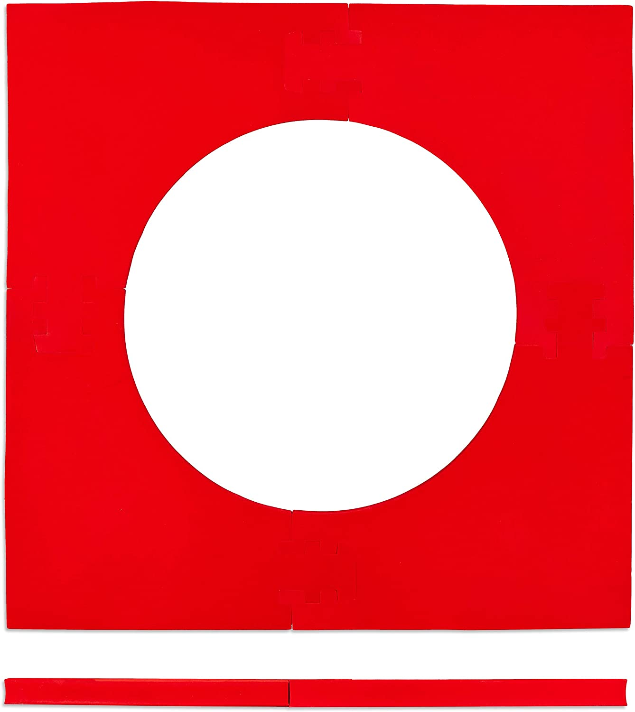 Anillo de retenci/ón para Dardos Color Rojo 71 x 71 x 3 cm Relaxdays Dartscheibe Schutzring R6 Protectora de Pared para Diana de 45 cm EVA Unisex Adulto