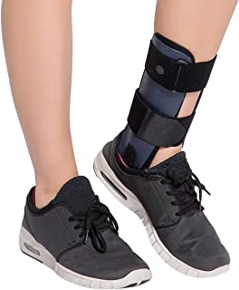 Velpeau Ankle Brace - Stirrup Ankle Splint - Adjustable Rigid Stabilizer for Sprains, Strains, Post-Op Cast Support and Injury Protection (3-Dimensional Molded Pads, Large - Left Foot)