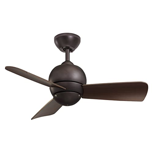 Emerson Ceiling Fans CF130ORB Tilo Modern Low Profile/Hugger Indoor Outdoor Ceiling Fan, Damp Rated, 30-Inch Blades, Light Kit Adaptable, Oil Rubbed Bronze Finish