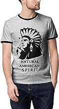 Men Art Natural-American-Spirit-Tobacco-Round Neck Tops