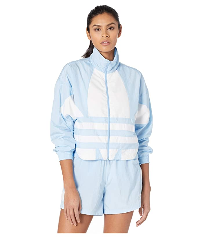 70s Workout Clothes   80s Tracksuits, Running Shorts, Leotards adidas Originals Large Logo Track Top Clear SkyWhite Womens Clothing $64.99 AT vintagedancer.com