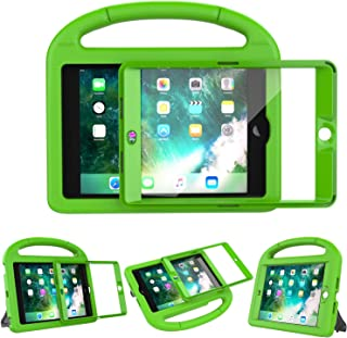 LEDNICEKER Kids Case Built-in Screen Protector for iPad Mini 1 2 3 - Shockproof Handle Kidproof Friendly Foldable Stand Child Case for iPad Mini 1st 2nd 3rd Generation - Green