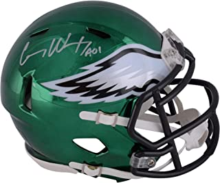 Autographed//Signed Zach Ertz Philadelphia Eagles Football Mini Helmet Beckett BAS COA