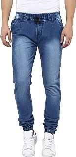 Urbano Fashion Men's Light Grey Slim Fit Jogger Jeans Stretch