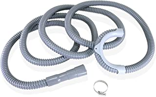 Cratehill - 13ft Heavy-Duty Washing Machine Drain Hose with Clamp, Washer Drain Hose is Industrial Grade, Washer Discharge Hose for Washing Machines - True 12 ft Length when Using the Hanger Bracket