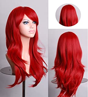 HYLong Fashion women wigs 60824 RE2 Cosplay wig Anime long red high temperature hair 70CM
