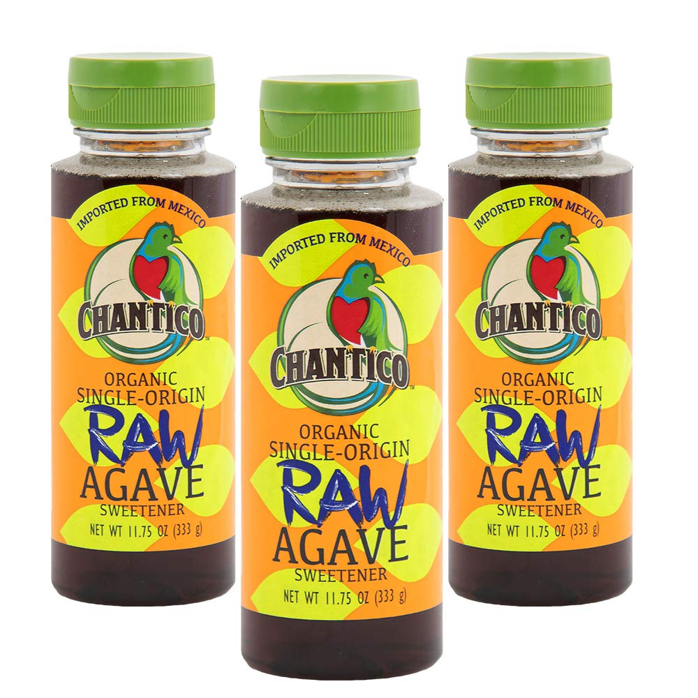 Chantico Max 42% OFF Agave Sweetener Raw 3 Bottles depot Pack of 11.75oz