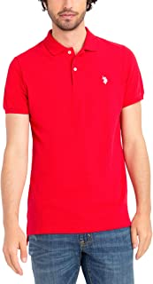 U.S. Polo Assn. Mens Classic Small Logo Solid Pique Polo...