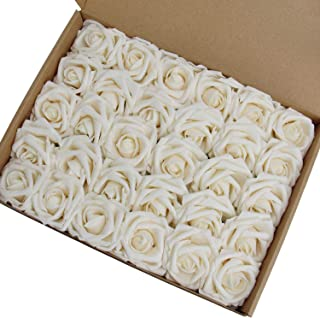 Best cream fake flowers Reviews