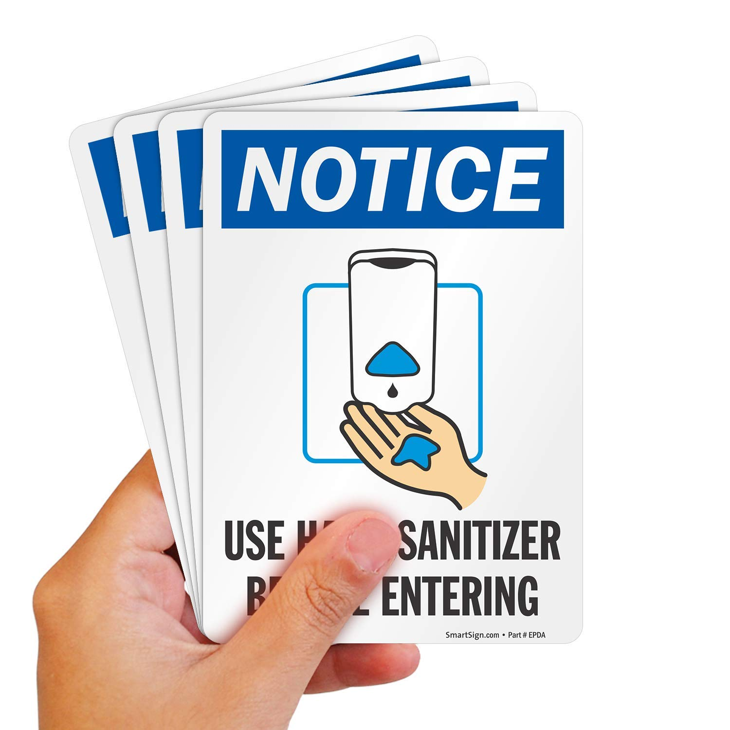 """SmartSign """"Notice - Use Hand Entering†Before Max 58% OFF Fashionable Sanitizer"""