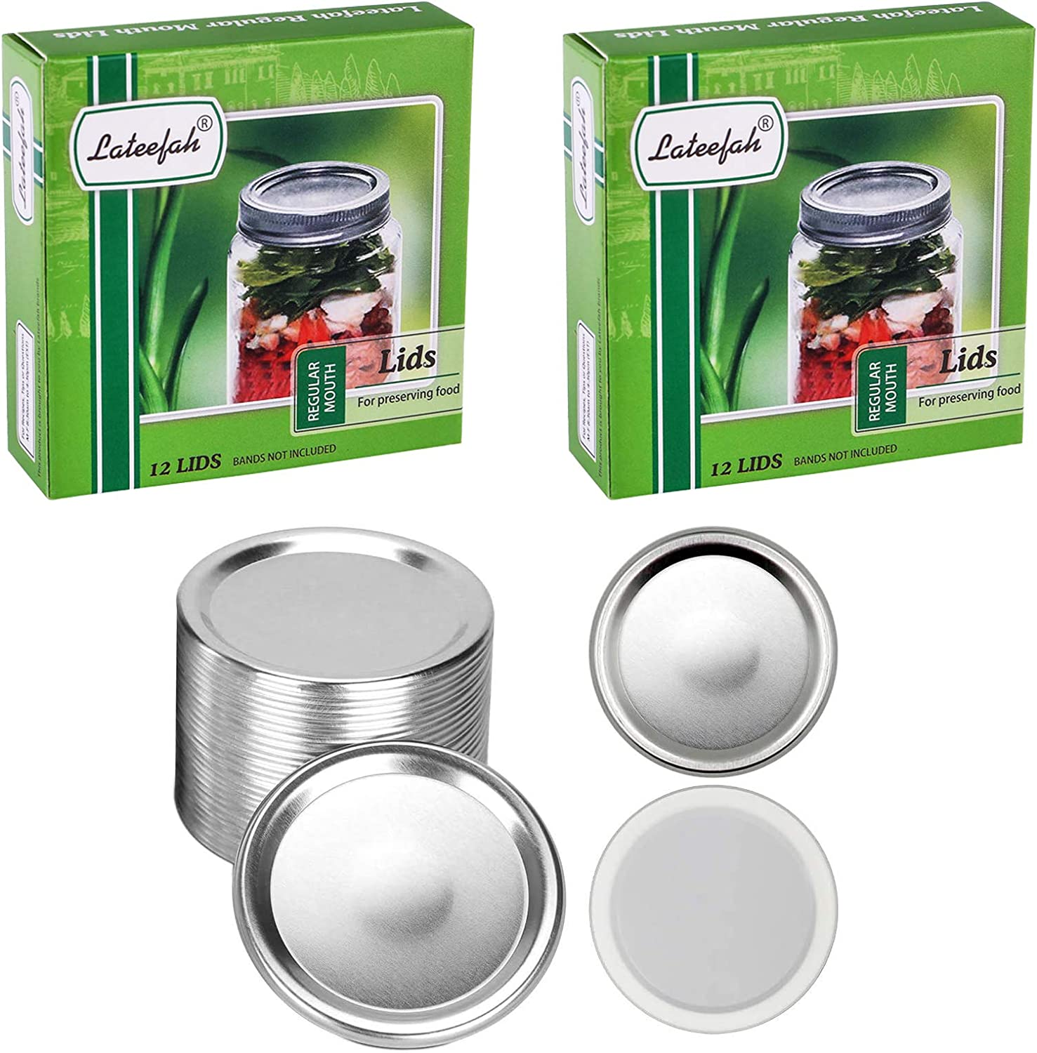 New Shipping Free Shipping 24 Regular Mouth NEW before selling Canning Mason Lids Jar Lids,St