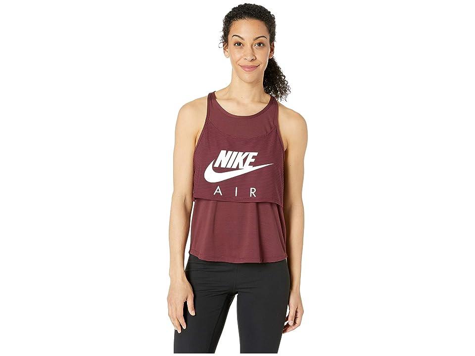 Nike Air Tank Graphic (Night Maroon/White) Women