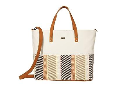Roxy Step Back Tote Bag (Snow White) Bags