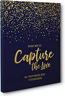 Capture The Love Wedding Ceremony Canvas Wall Art