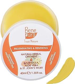 BenePura Regenerierende und Erneuernde Natürliche Kräutersalbe 40 ml - Ringelblume, Aloe Vera & Johanniskraut - wohltuend nach dem Tätowieren - Konservierungsmittelfrei, Handgefertigt in der EU