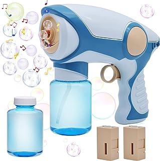 JOYIN Smoke Blaster Gun Bubble Blower Machine with 2 Bubble Solution (130ml) for Kids, Summer Outdoor Play, Beaches, Pool ...